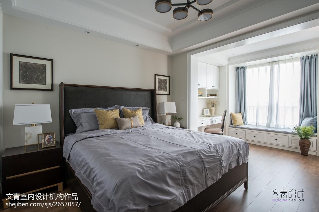质朴58平美式复式卧室效果图