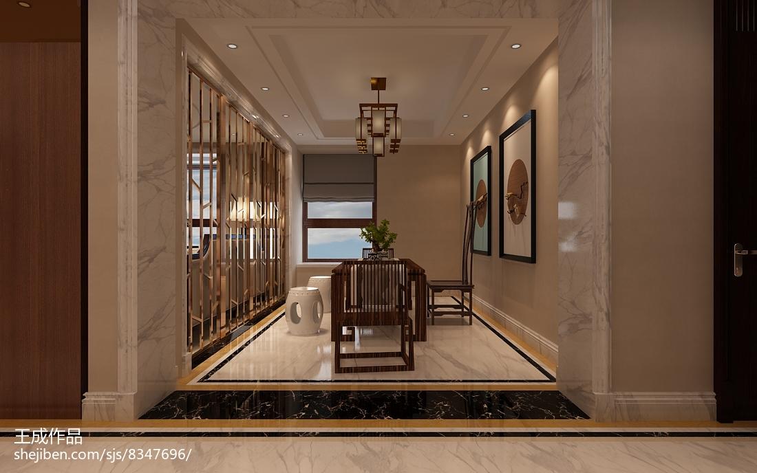 简欧时尚复古风格设计四居室装修效果图