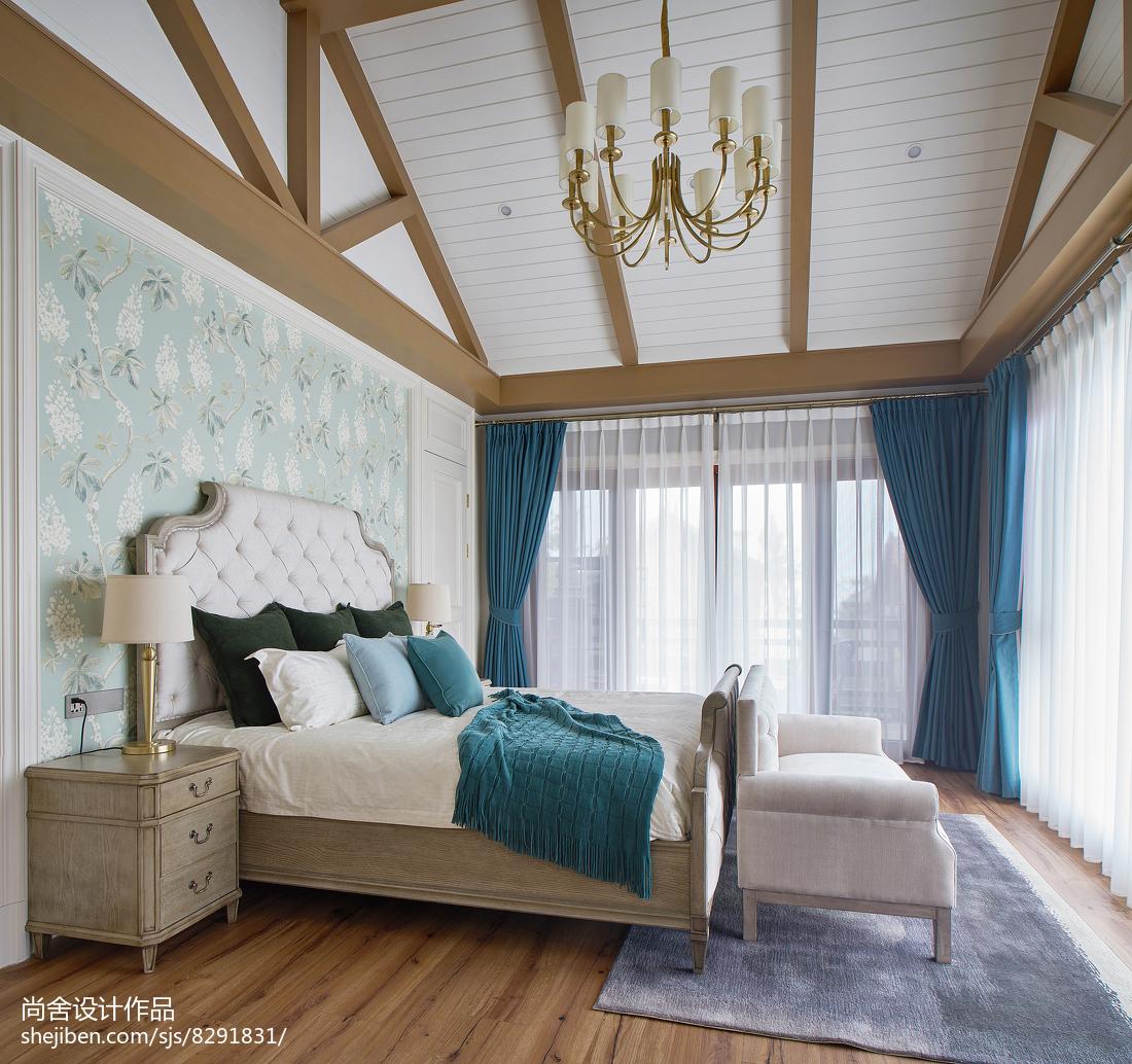 热门114平米欧式别墅卧室效果图