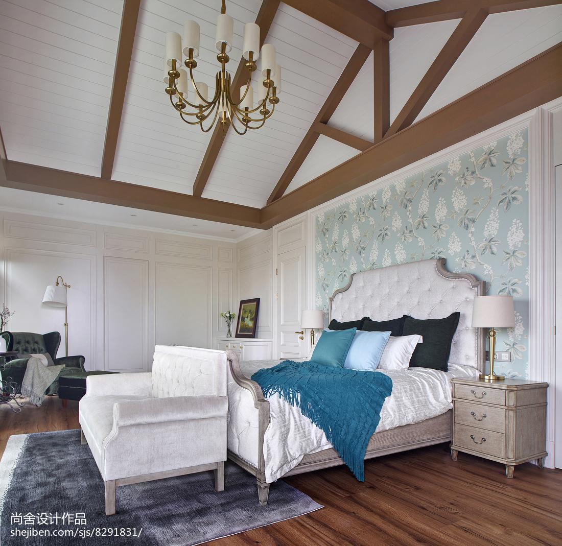 大气584平欧式别墅卧室装修图片