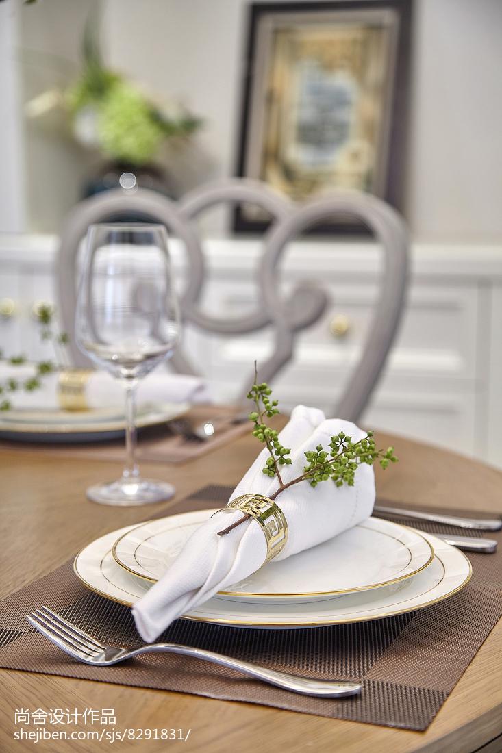 精美124平米欧式别墅餐厅实景图片欣赏