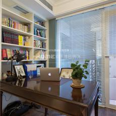 面积137平美式四居书房装修图