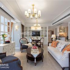 2018精选面积140平美式四居客厅装修图