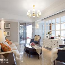 热门125平米四居客厅美式装修实景图片