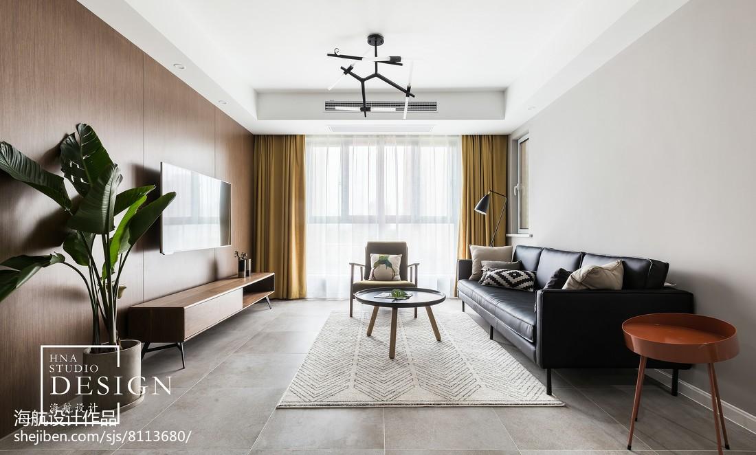 125㎡现代简约客厅设计图