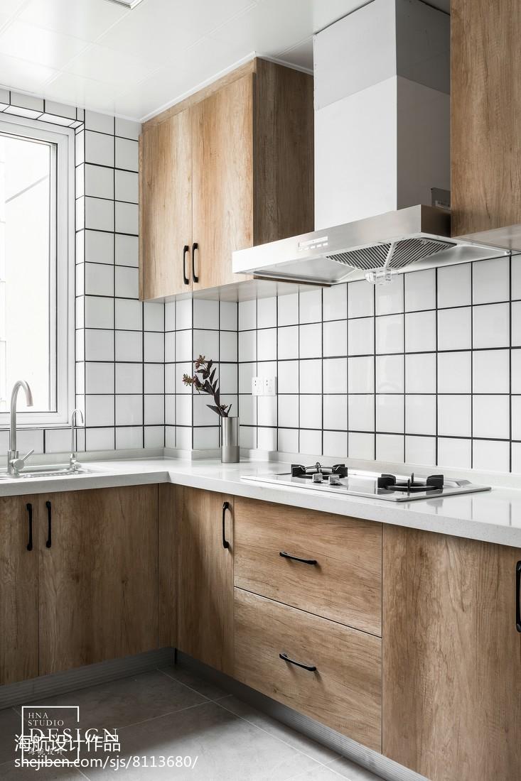 125㎡现代简约厨房设计图