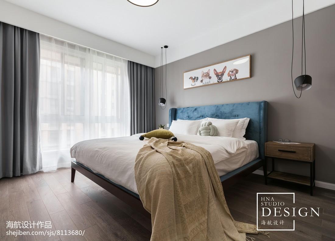 125㎡现代简约卧室设计图