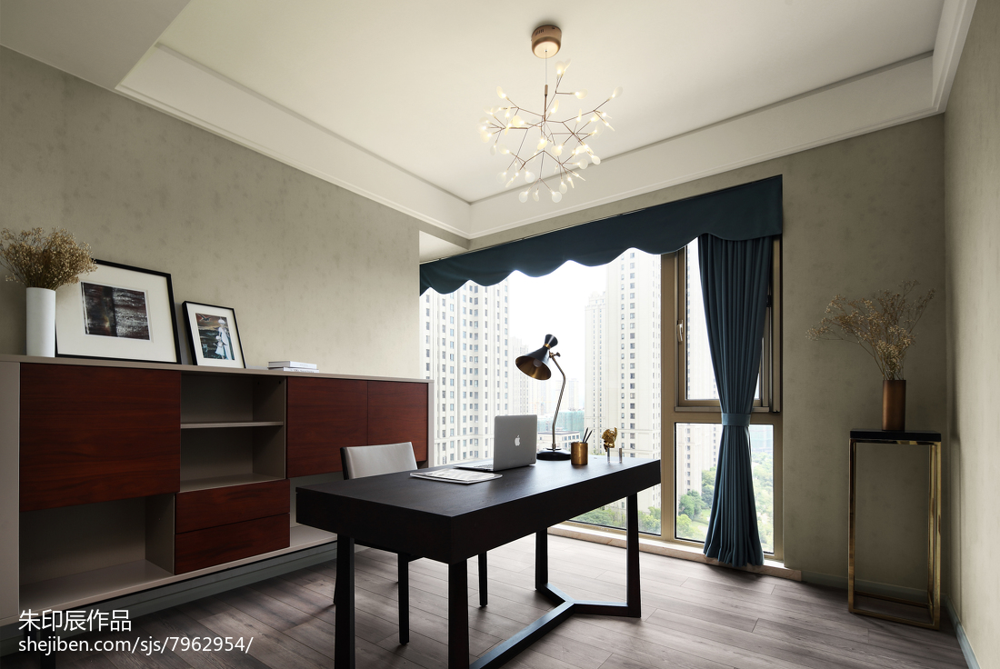 质朴122平现代三居书房装饰美图