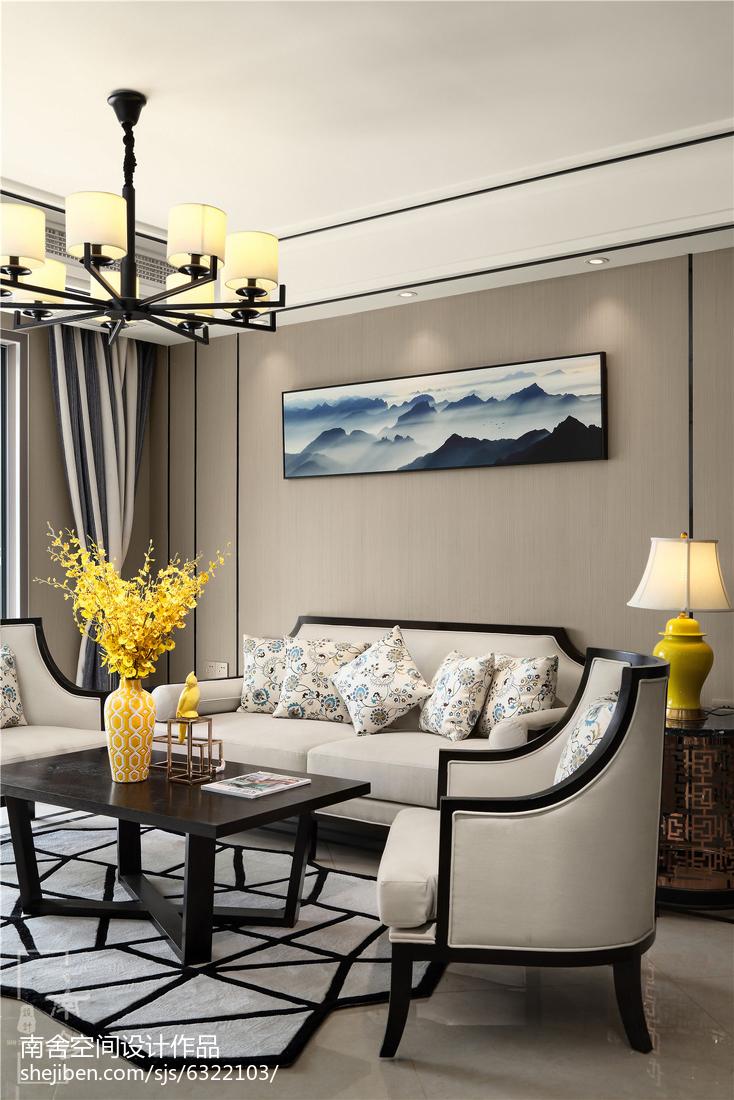 105平米三居客厅中式装饰图