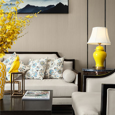 精选90平米三居客厅中式装饰图片