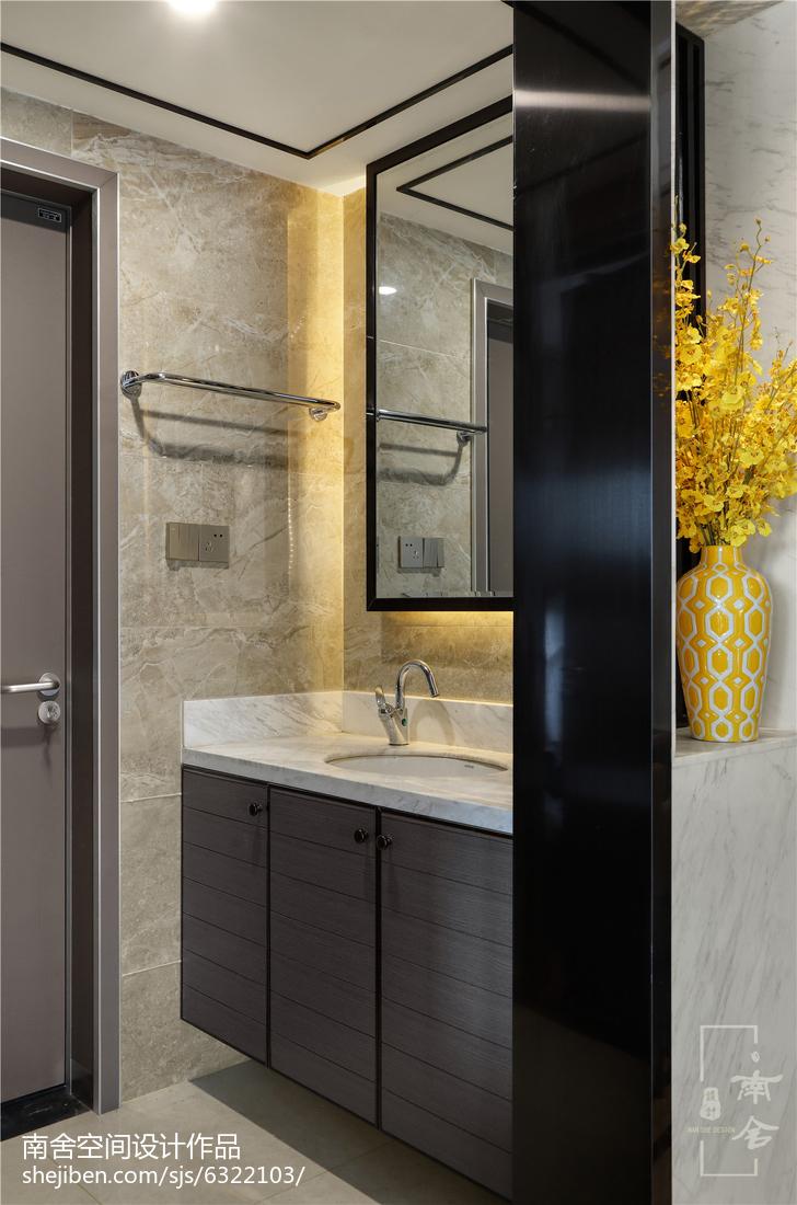 热门面积108平中式三居卫生间装修效果图片欣赏
