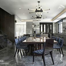 温馨773平现代别墅餐厅设计美图