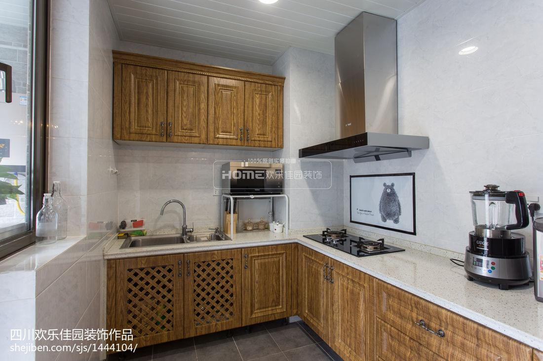 热门面积81平美式二居厨房实景图
