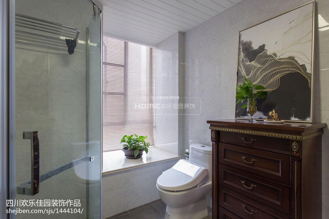 简洁80平美式二居卫生间装修装饰图