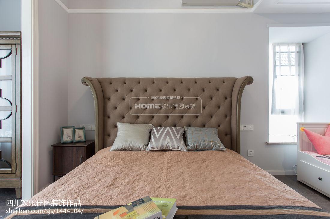 热门面积81平美式二居卧室装修效果图