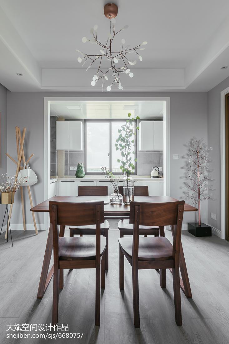 2018104平米三居餐厅现代装修图