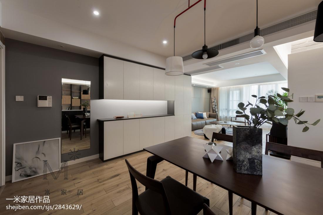 2018精选91平米三居餐厅现代装修实景图片欣赏