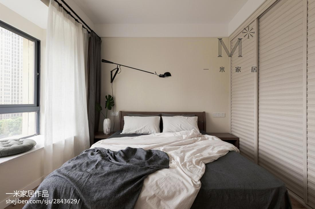 面积90平现代三居卧室装修设计效果图片大全