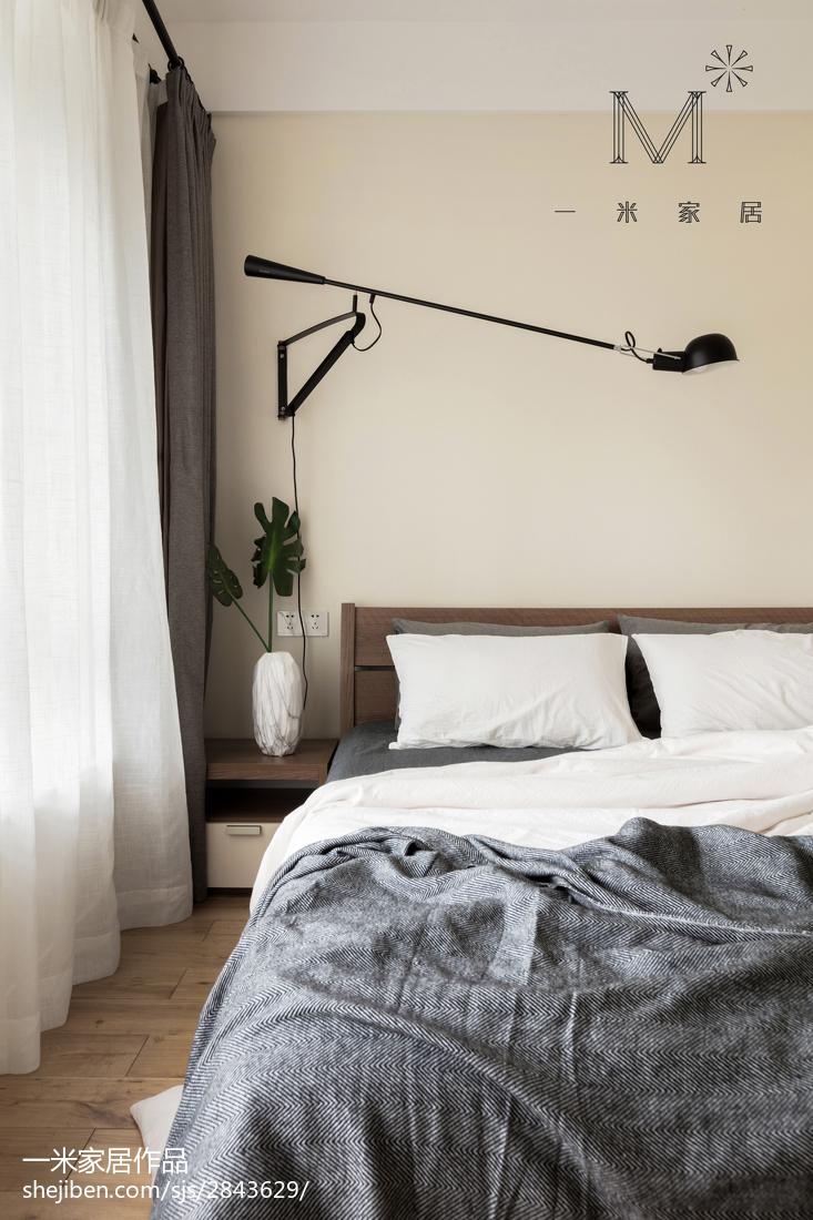明亮80平现代三居卧室装修图片