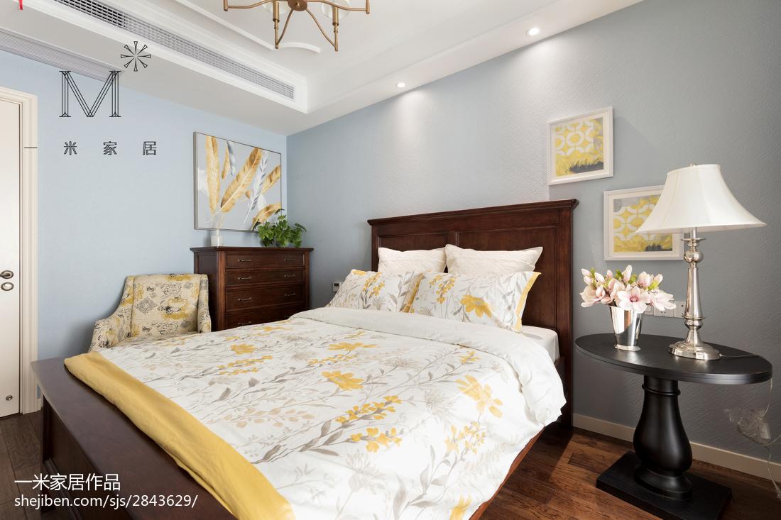 精选121平米四居卧室美式装饰图片