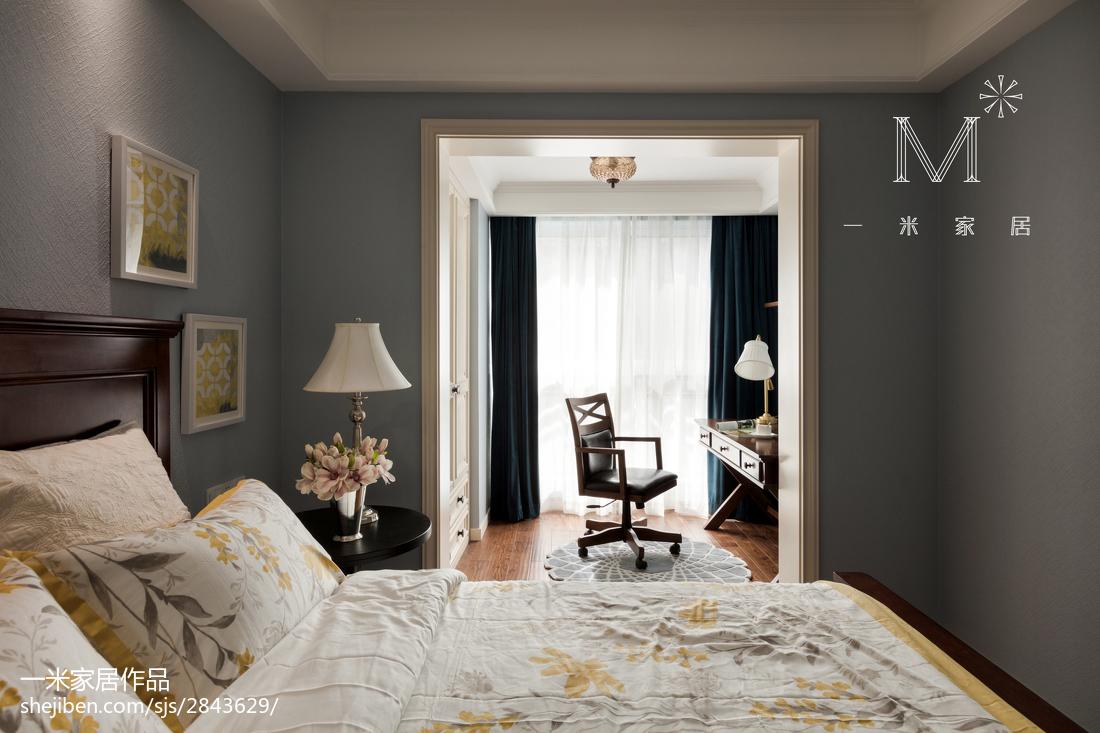 悠雅97平美式四居卧室图片大全