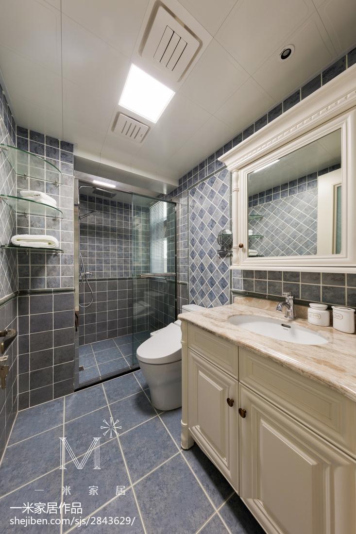 精选四居卫生间美式装修设计效果图片欣赏