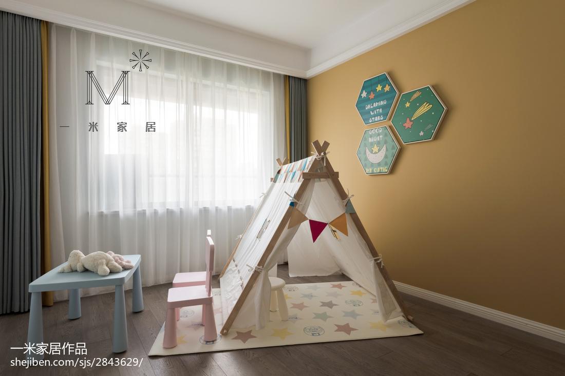 面积137平简约四居儿童房装修效果图