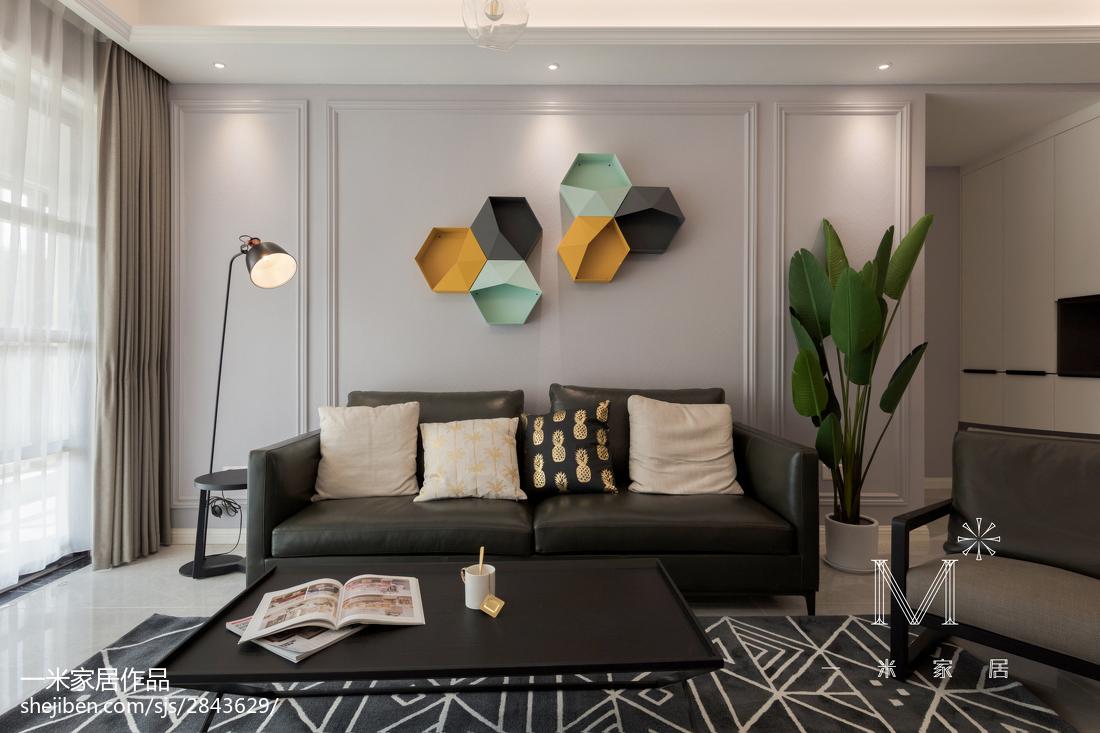 2019114平简约四居客厅装修案例