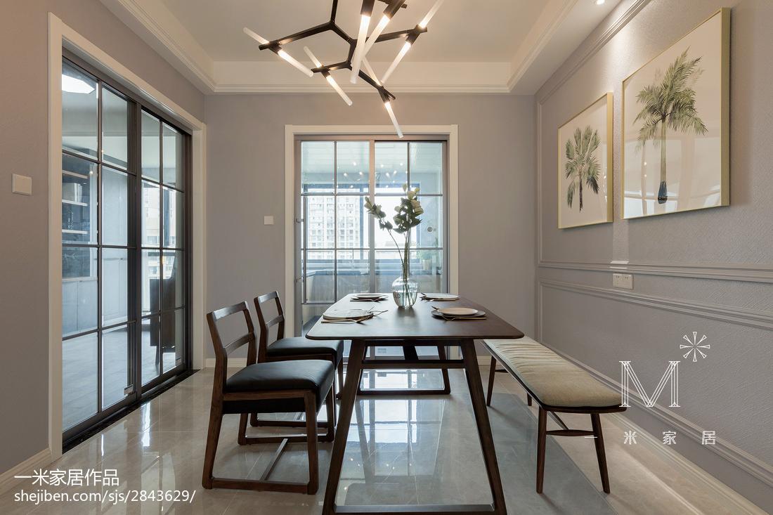 精美面积130平简约四居餐厅装修效果图