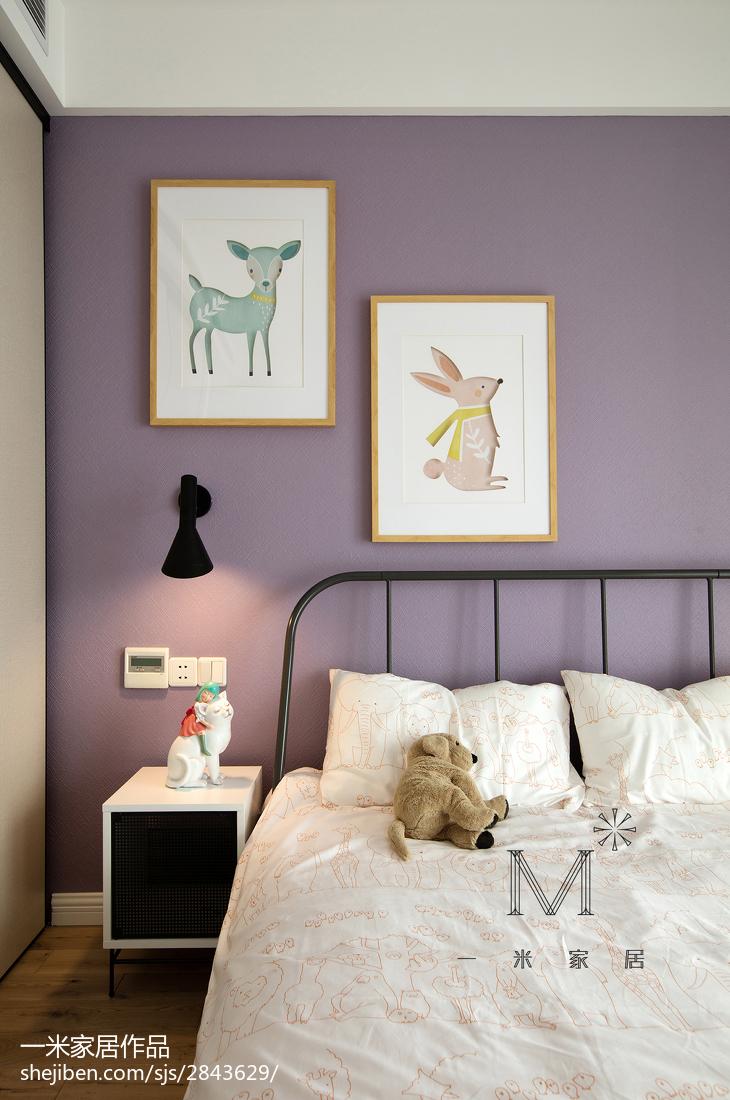 热门面积96平北欧三居卧室装修设计效果图片大全