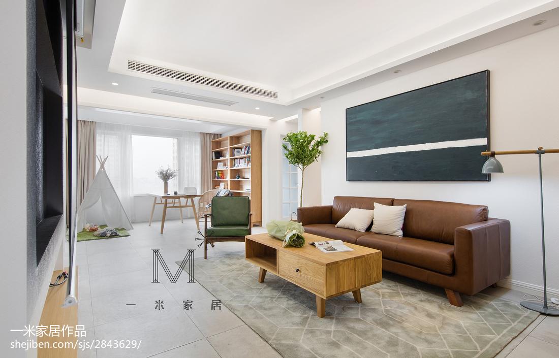 精选面积109平北欧三居客厅设计效果图