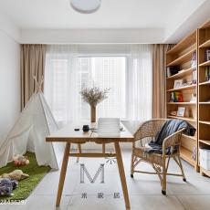 精美95平米三居书房北欧实景图片