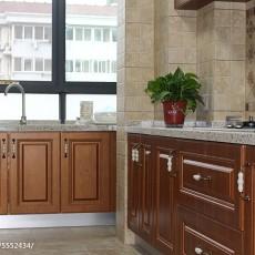 精选80平米美式小户型厨房装修欣赏图片
