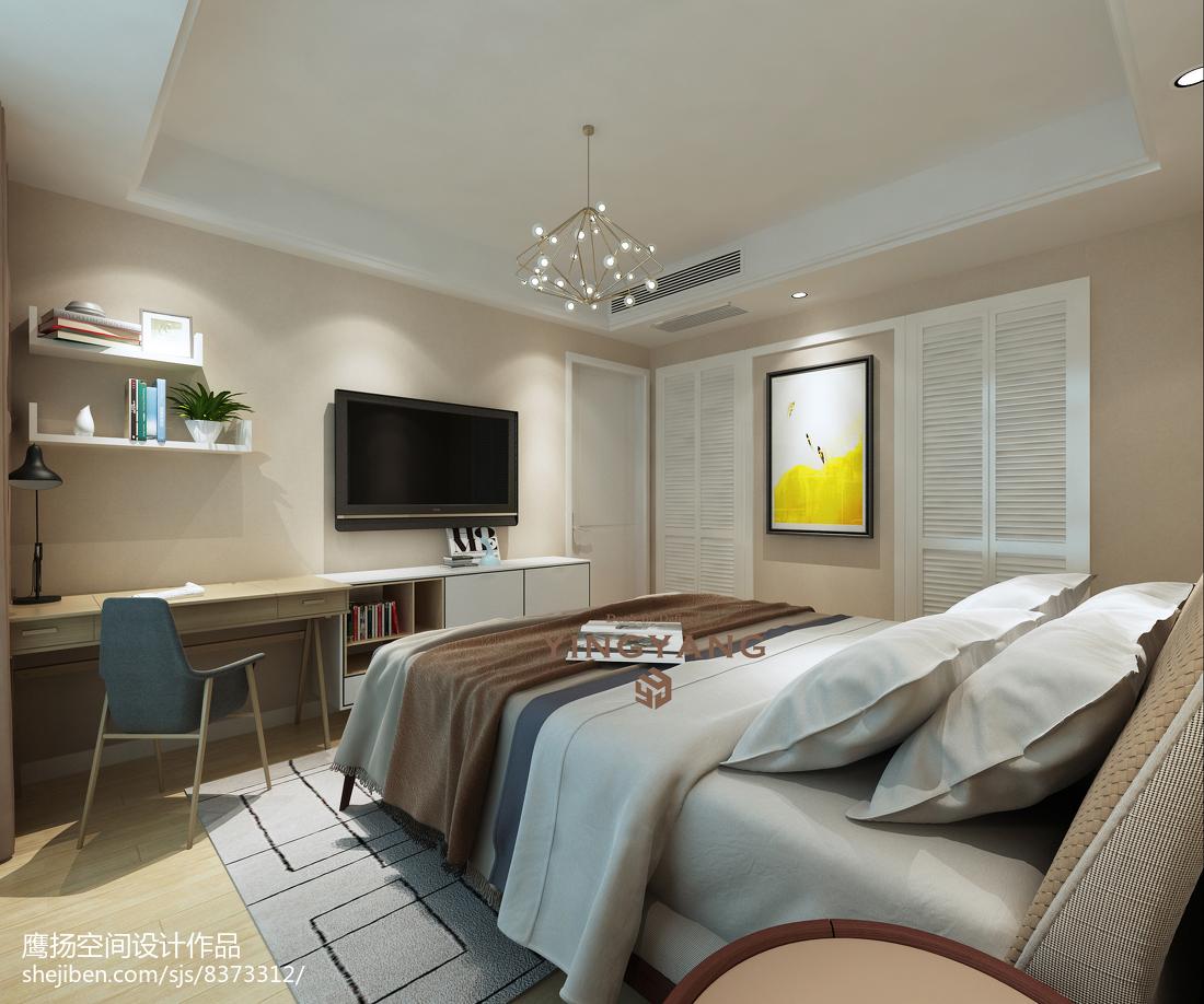 2018124平米现代复式卧室效果图片大全