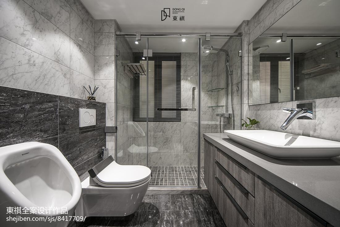 经典灰现代卫浴设计图片