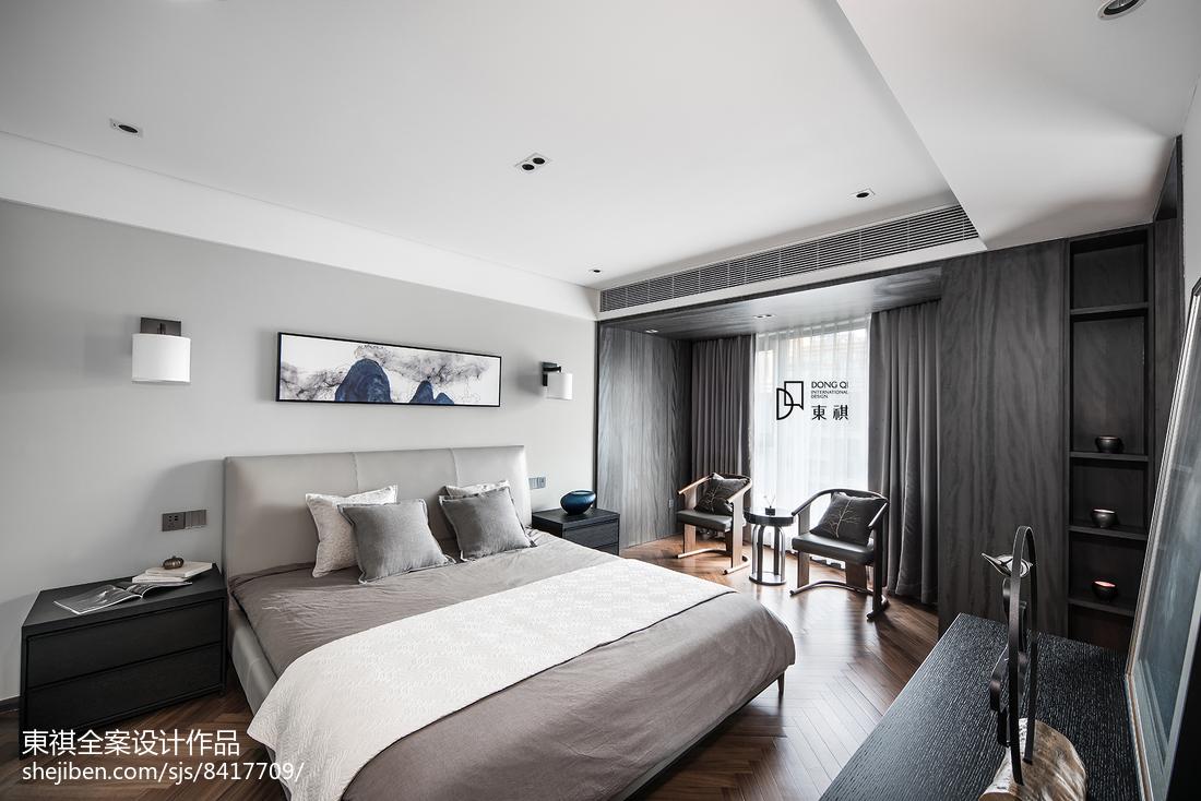 经典灰现代卧室设计图片
