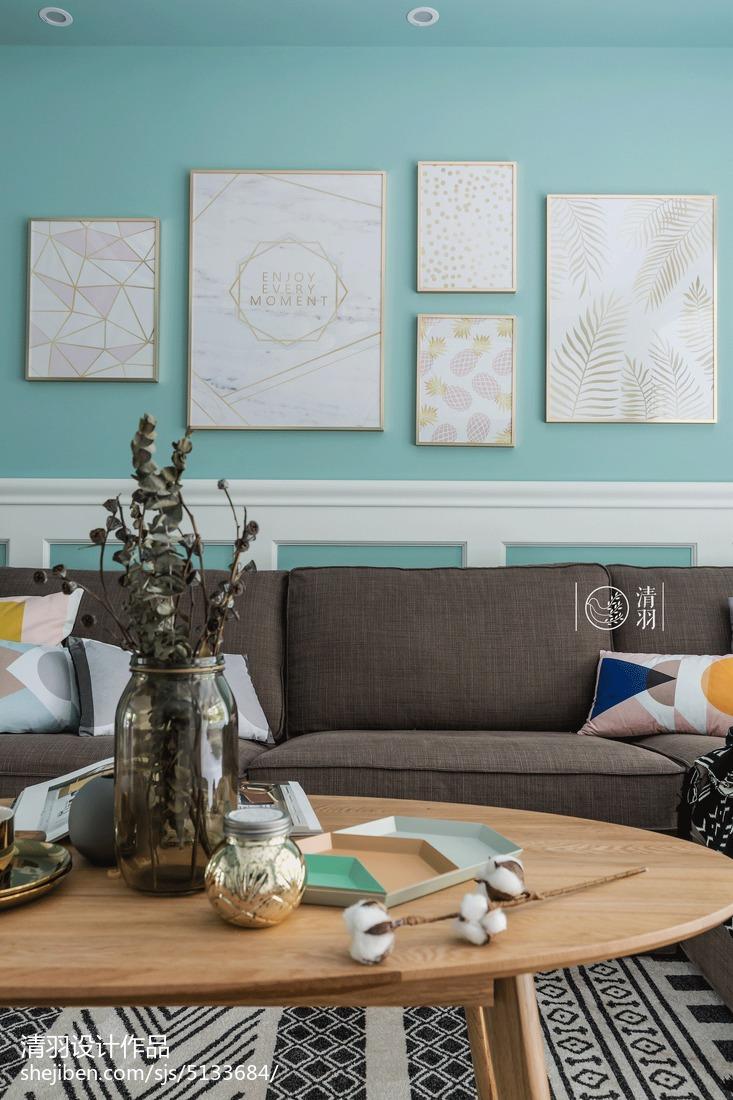 质朴97平北欧三居客厅装饰图片
