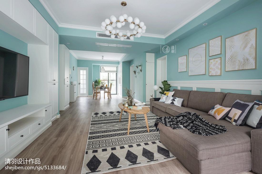 微蓝北欧客厅设计图片