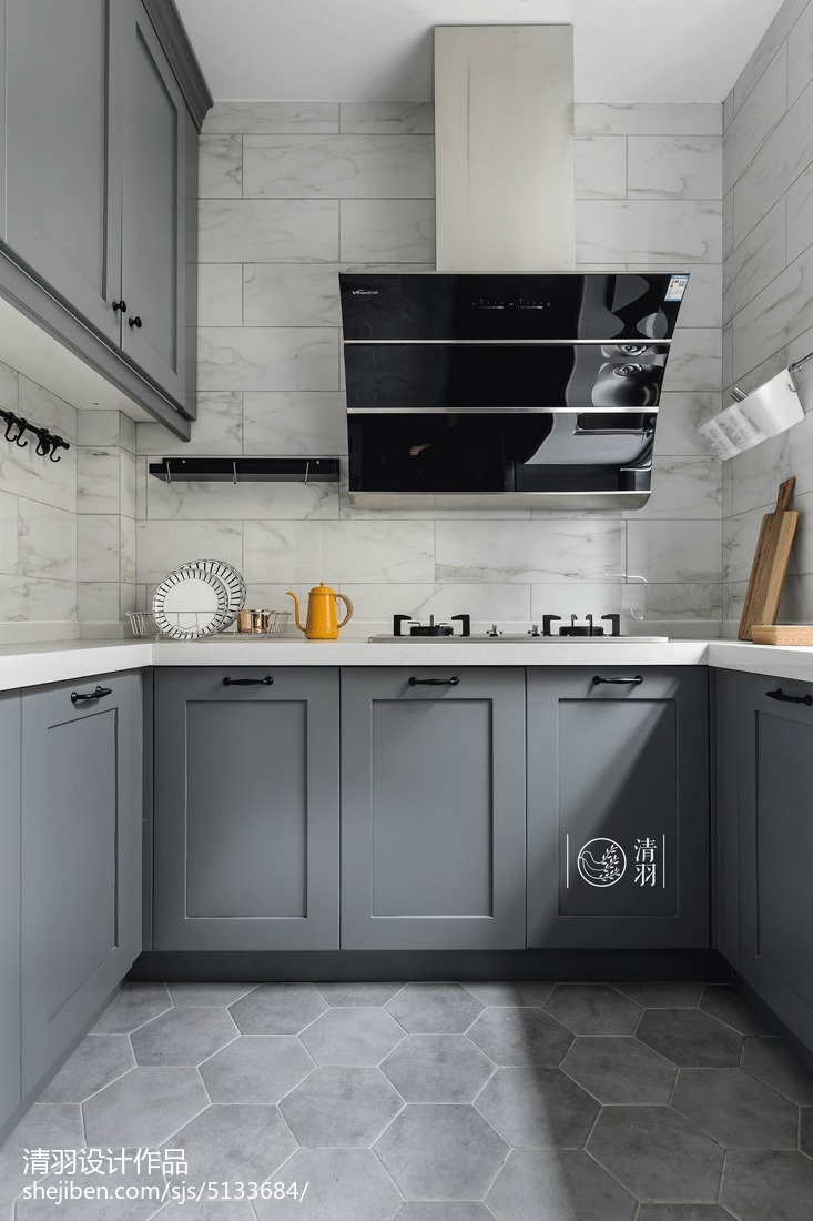 优美83平北欧三居厨房装饰图