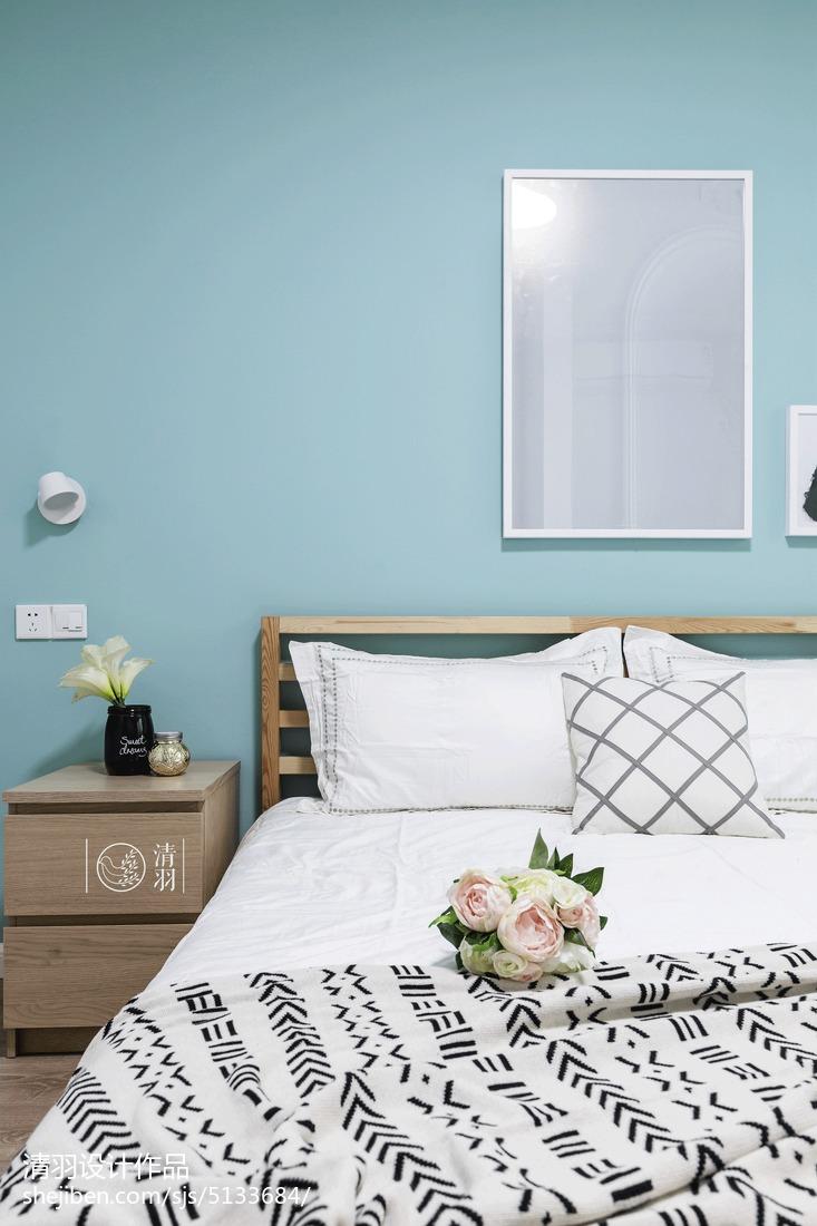 浪漫97平北欧三居卧室装饰图