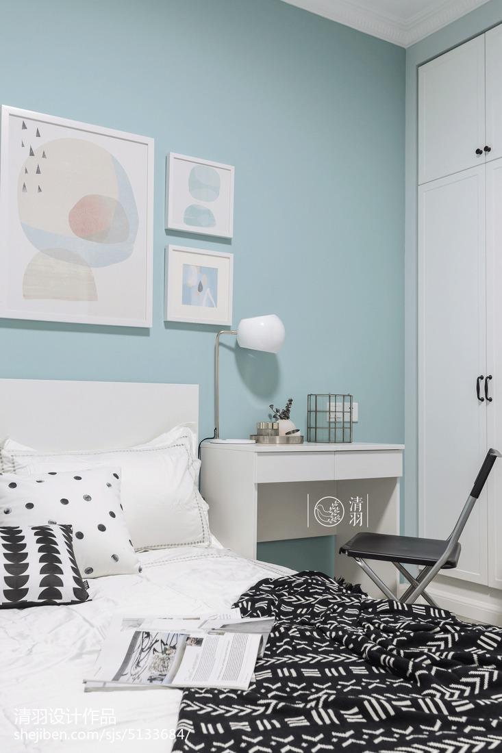 精美129平北欧三居卧室装修图片