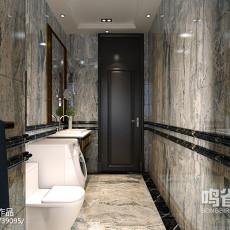 美式创意风格狭长厨房设计效果图