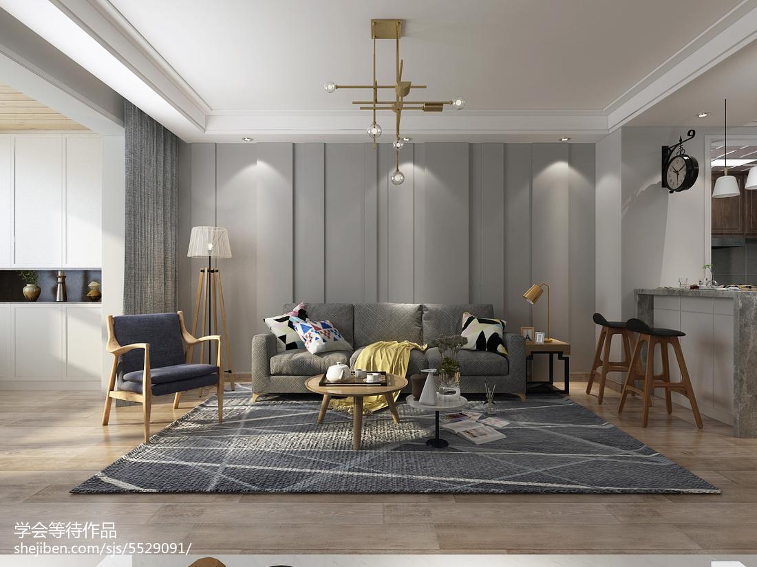 2018面积108平宜家三居客厅装修设计效果图片大全