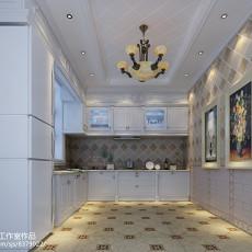 精美美式别墅厨房装修设计效果图片