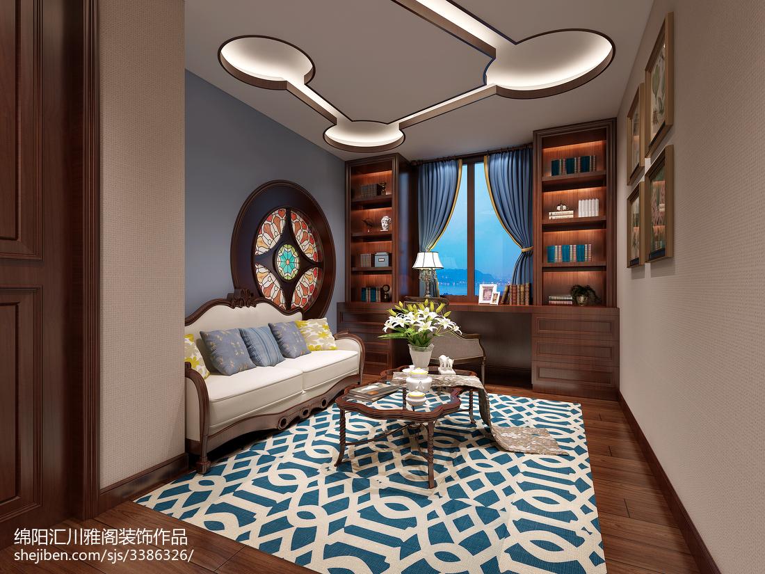 美式风格复式家装效果图片