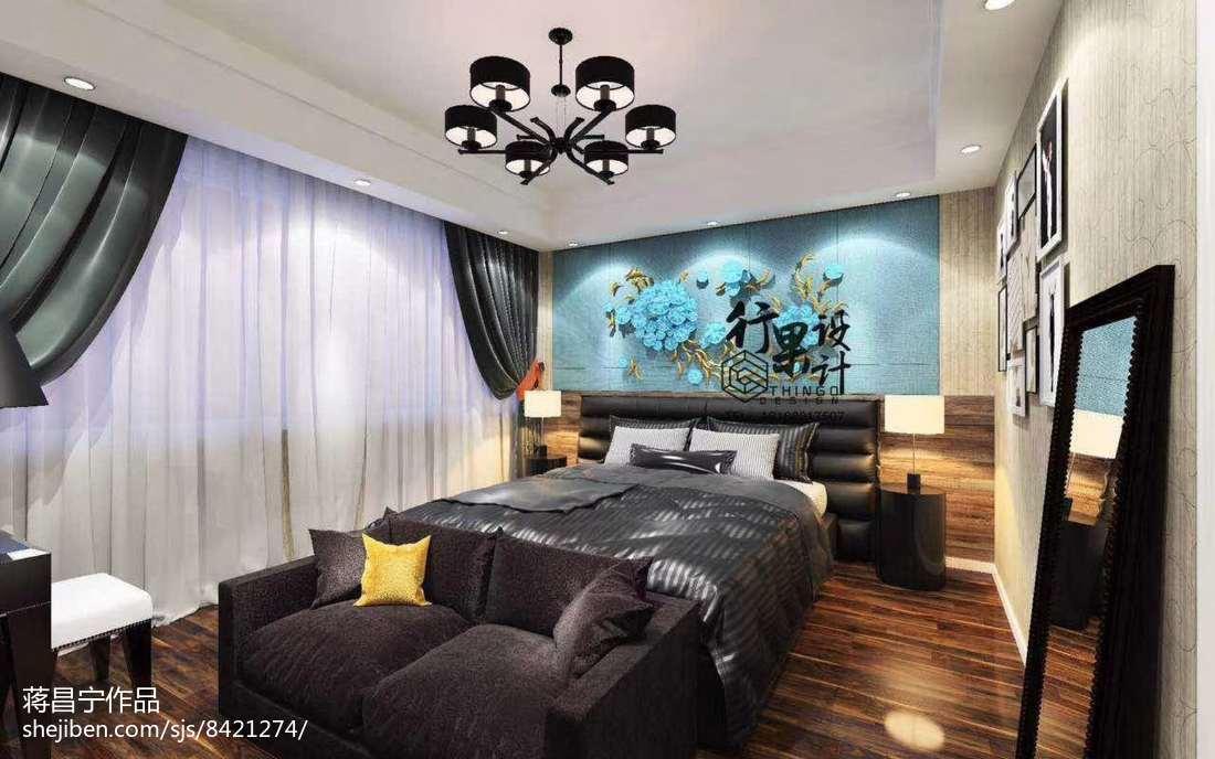 热门118平米现代复式卧室装修实景图片