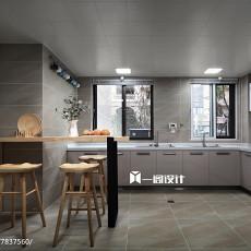 2018面积115平复式厨房现代欣赏图片