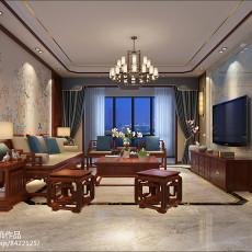 新中式风格装修客厅效果图片2014