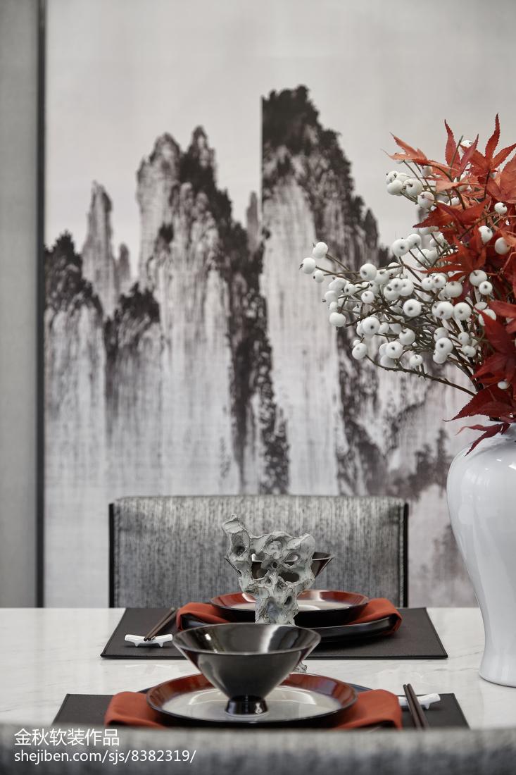 悠雅278平中式樣板間餐廳實景圖片