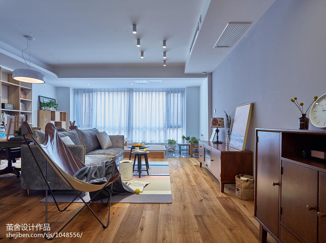 热门108平方三居客厅北欧装修设计效果图片欣赏